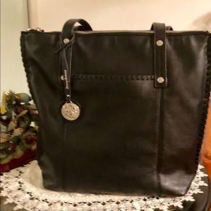 Tommy Bahama Lido Key Leather Tote, Black